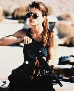 Sarah Connor: normal girl confronted with extraordinary circumstances, who trains and uses whatever she has to become a savior