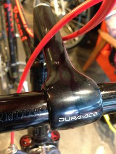Super rare Shimano Dura Ace stem in black Visit us @ http://www.wocycling.com/ for the best online cycling store.