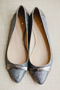 Pewter Kate Spade Wedding Flats