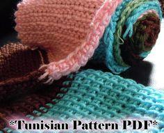 Tunisian Simple Stitch Crochet Scarf Pattern PDF $3.00