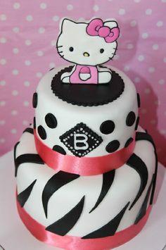 "Photo 4 of 35: Hello Kitty Style! / Birthday ""Bree's 14th Birthday-Hello Kitty Slumber Party"" | Catch My Party Chocolates Cake, Kitty Parties, Hello Kitty Cake, Hello Kitty Birthday, 16Th Birthday, Cupcakes Hello Kitty, Hellokitty, 21St Birthday Cake, 20Th Birthday"