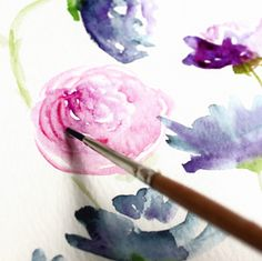 How to Create Watercolor Flowers Tutorial