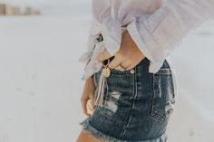 denim cut offs and c