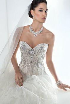 White Corset wedding dress
