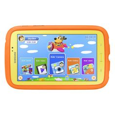 "#Samsung 7"" Galaxy Tab 3 Kids Edition - Yellow/Orange  #holidaygifts #holidayshopping #kids"