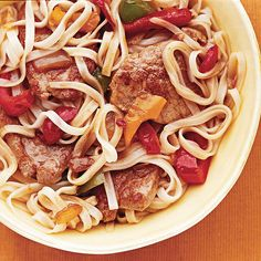 Spice up your weeknight with our yummy Oriental Pork and Vegetables! More pork recipes here: http://www.bhg.com/recipes/pork/30-minutes-less/quick-pork-recipes/?socsrc=bhgpin072914orientalporkandvegetables&page=14