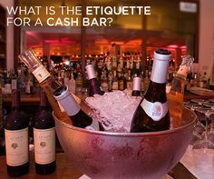 What is the etiquette for a cash bar? || Colin Cowie Weddings