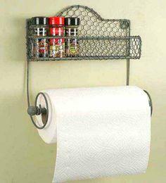 CUTE paper towel holder!