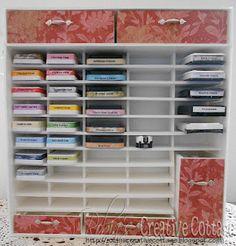 storag organ, pad storag, foam core, ink pads, robin creativ, craftroom, craft room, creativ cottag, core board