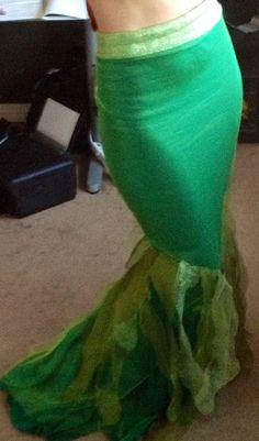 Mermaid tail walking Ariel tail by princesspartyenchant on Etsy,