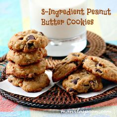 3 Ingredient Peanut Butter Cookies - easy, delicious and completely gluten-free!