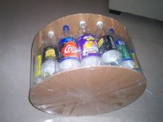 Pouffe (Foot Rest) Made with 2 Liter Bottles