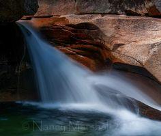 Basin at Flume Gorge in New Hampshire courtesy Nancy Marshall.