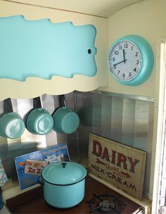 tiny vintage camper kitchen