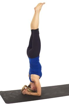 How to Do a Headstand by @Kristin :: Teal White Garden McGee