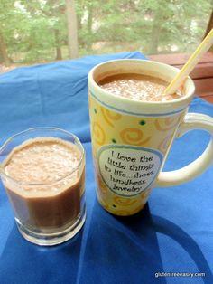 gluten free, dairy free, refined sugar free, milkshake, chocolate, dessert, recipe, Shirley Braden, gluten free easily