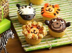 Zoo/Jungle Animal Birthday Cupcakes