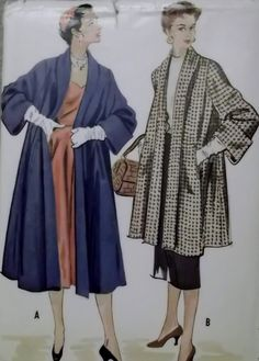 Vintage Coat in 2 Lengths McCalls 9668 Sewing Pattern by DotisSpot, $29.54