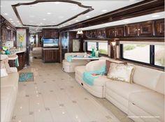 Luxury motorhome interior