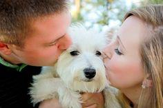 Couple with Dog Pose **Kandid Kate Photography** Colorado Photographer