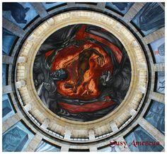 El Hombre de Fuego  mural de Jose Clemente Orozco