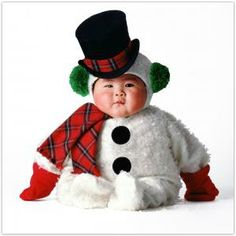 jack frost, kid costumes, dresses, baby costumes, snowman, top hats, baby photos, asian babies, calendar
