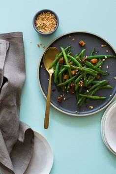 asian-style-green-beans-pork-belly / Spoon Fork Bacon