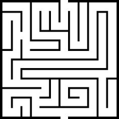 Math labyrinthe on Pinterest | Maze, Picasa and Dover Publications