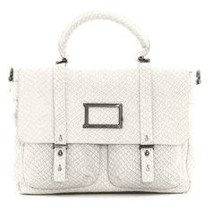 Marc by Marc Jacobs Werdie snake-print satchel ($569) ❤ liked on Polyvore