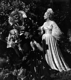 """Jean Marais & Josette Day in """"La belle et la Bete,"""" 1946"""