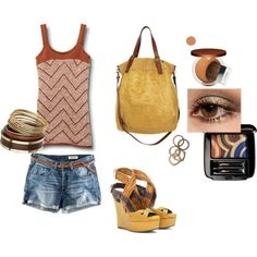 Summer brown leather, created by vedenicheva on Polyvore
