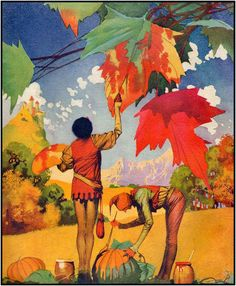 Changing of the Colors: Frank Godwin (Looking ever-so like Maxfield Parrish)  1919