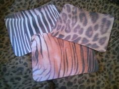 Closeups of real animals!  FREE shipping!  Animal Skins Mouse Pad - Zebra Leopard Tiger Skins