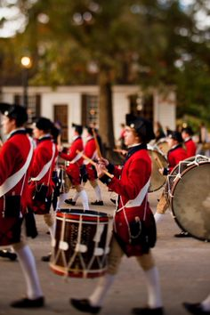 Our Fifes and Drums are a fan favorite. Their marches fill the Historic Area with some of the exciting sounds of the 18th-century military. #fifes #drums #ColonialWilliamsburg