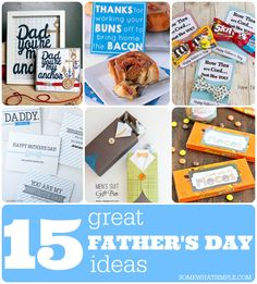 15 Great Father's Day Ideas: everything from recipes to printable cards to gifts.