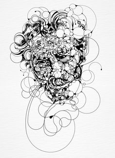 This is an illustration made in an ink. I built the picture creating a network of lines and mixing different types of objects.