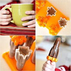 Homemade hot cocoa and Hot cocoa popsicles