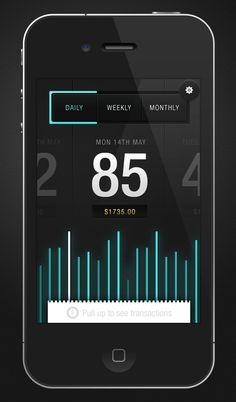 Stay up to date with daily web design news:  http://www.fb.com/mizkowebdesign    Envato Sales App  by Saxon Fletcher    #webdesign #design #designer #inspiration #user #interface #ui #web