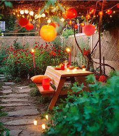 Garden Party - I really want to set up an area in my massive backyard that is Ready-to-Entertain all year round!!