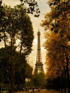 Old World Eiffel Tower Paris Photography Print 12x18 11x14 Multiple Sizes