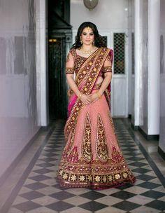 Bride's lengha by Tarun Tahiliani, indian wedding, indian wedding clothes indian weddings, hut lengha, lengha suit, tarun tahiliani, brides, desi dulhan, indian fashion, gorgeous bride