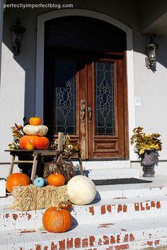 fall porch decoration