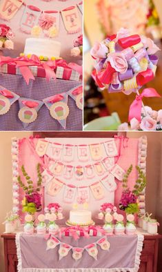 Sweet girly pink gingham themed birthday party full of cute ideas! Via Karas Party Ideas KarasPartyIdeas.com #gingham #pink #birthday #party #girly #idea #flower #ideas