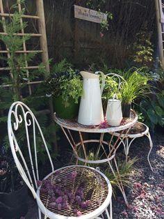 porch junk, garden art, junk decor