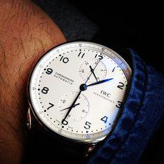 IWC Portuguese Chronograph Steel Watch