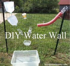 DIY Water Wall from There's Just One Mommy