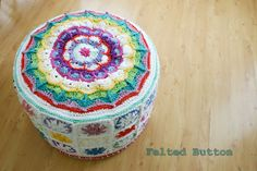 Felted Button - Colorful Crochet Patterns: ::Putting My Feet Up::
