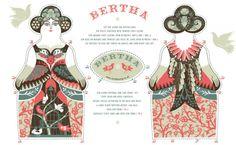 bertha tea towel kit