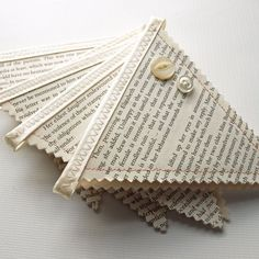 Book Page Bunting