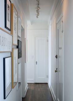 narrow hallway gallery
